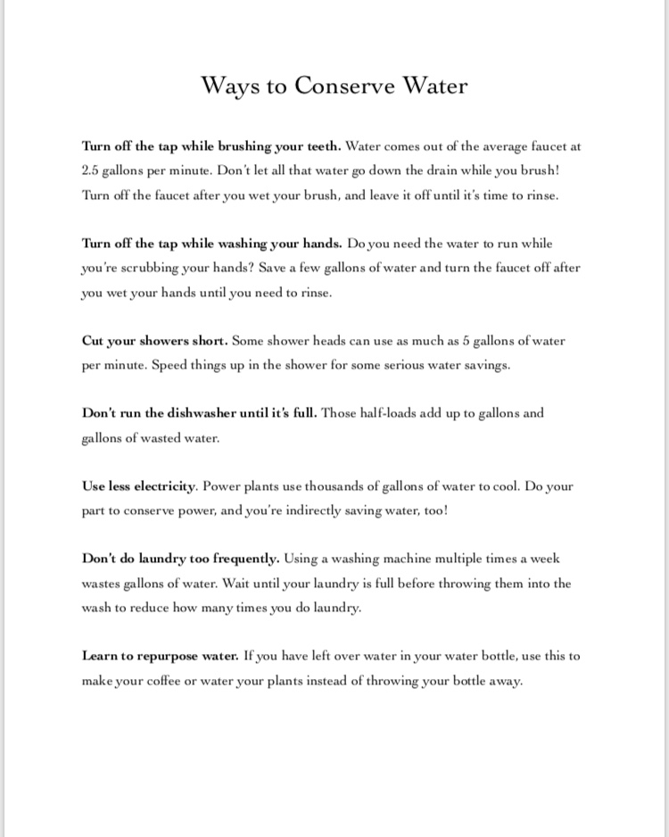 Bringing the Topic of Water Conservation to Life – English